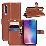 MXM JH Litchi Texture Horizontal Flip Leather Case for Xiaomi Mi9 SE, with Wallet & Holder & Card Slots(Black) (Color : Brown)