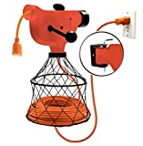 Wall Mounted Extension Cord Winder Organizer with 2 Fixed and 1 Swivel Wall Mount Brackets, Portable from Wall to Wall