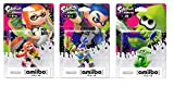 Amiibo Splatoon 3 Types Set Girl Boy Squid Mascot Platform Nintendo Wii U