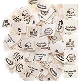 100Pcs Handmade Label zum Annähen aus Stoff Etiketten