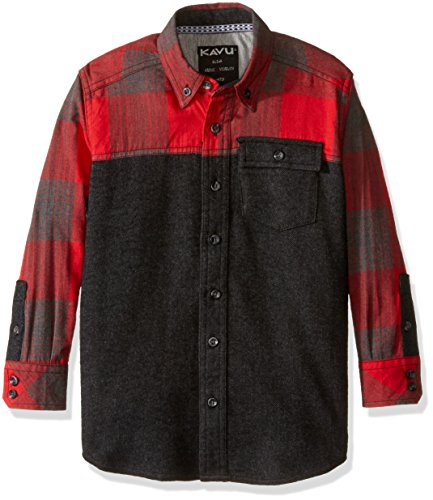 KAVU Erwachsene Little Gabel Long Sleeve Shirt, Unisex, K5040, Lumberjack, Large