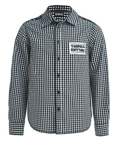 GULLIVER Hemd Jungen Hemden Jungen Kinder Jungen Schwarz Kariert Langarm 8-13 Jahre 134-164 cm