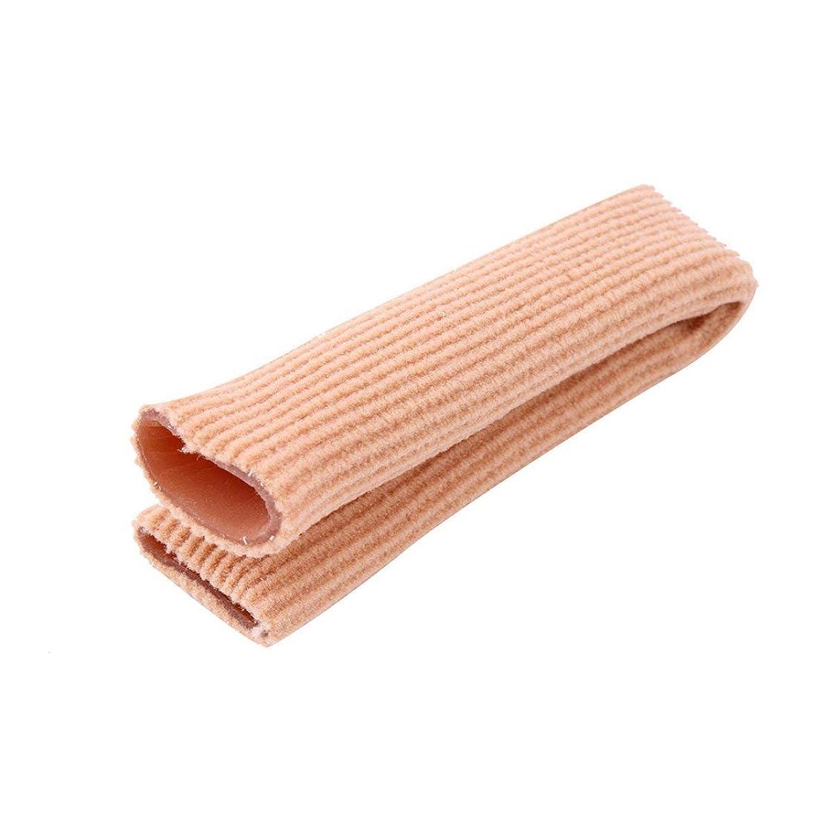 統治する実装する流暢ファブリックジェルチューブ包帯フィンガー&トゥ保護フットフィート痛み緩和フィートケア用インソール15CMフィートガード