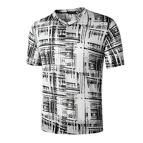 ZYYM Mens Short Sleeve Pullover Muscle T-Shirt Tops Spring Summer Vintage T-Shirt Men Casual Fashion Short Sleeve Printed Colourful Shirts Retro Shirt Men's Shiny Sequins 70s Disco Party Shirts