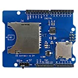 HiLetgo Stackable SD Card TF Card Micro SD Card SD/SDHC/Micro SD/Micro SDHC Card Reader Shield Multi-Functional SD Card Shield Module for Arduino UNO R3 MEGA2560