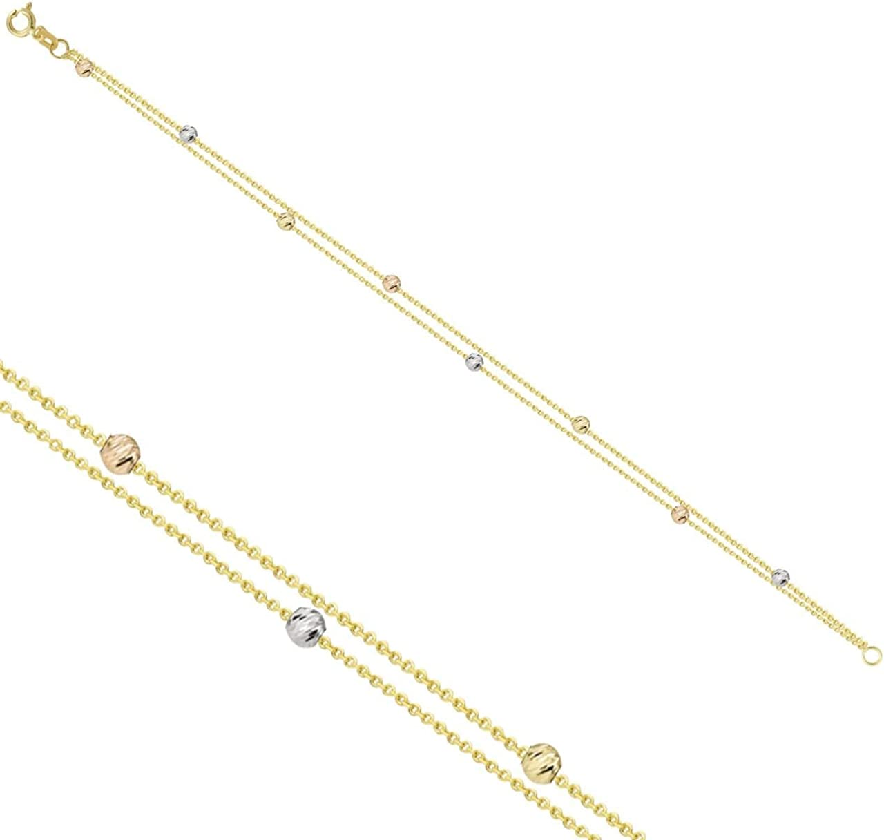 Many popular brands Anelise Bead Pendant 14k Solid Yellow gr 7.3 1.36 Gold Spring new work one after another Bracelet