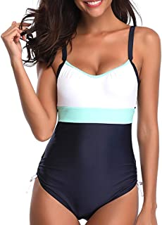 Century Star Plus Size Women One Piece Swimwear Straps Backless Bathing Suit Tummy Contorl Swimsuit Monokini