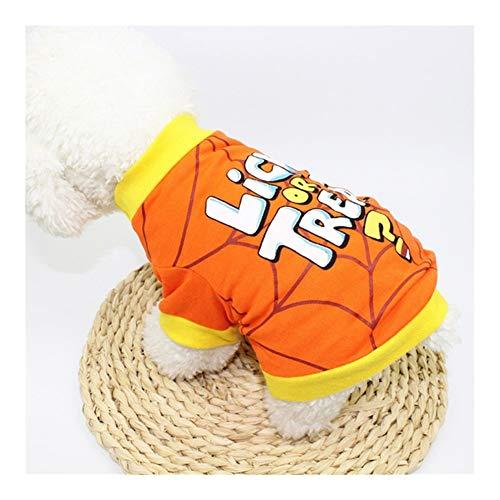 Disfraz de calabaza de JINAN para mascotas de Halloween y gato, divertida camisa de perro de Grimace Pug Candy-man, abrigo de Navidad para perros (color: araa, tamao: XL)