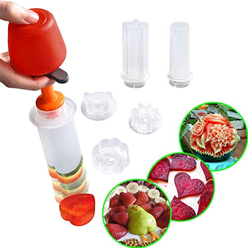 L.SMX Frullatore per Frutta E Verdura - Utensili per Decorare Frutta - Affettatrice per Frutta - Frullatore per Frutta Pop Chef - per Strumenti di Cottura per Feste di Compleanno
