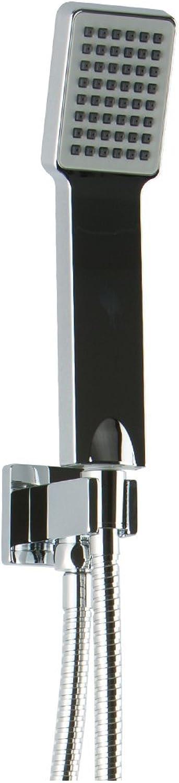Borhn B51322 Flexible Hose Shower Kit with Integrated Water Outlet and Handshower Holder,Chrome