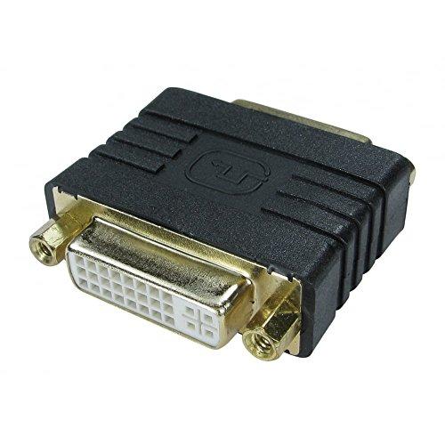 rhinocables® DVI-Koppler Female Gender Changer / DVI-I-Dual-Link-Adapter - Zum Anschließen von 2 Kabeln