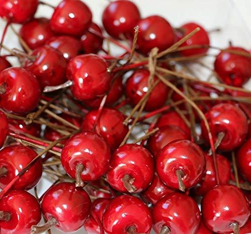 RiloStore 30 x Deko Äpfel 2cm Herbstdeko Früchte Basteln Herbst Dekoration Halloween Äpfel rot Dekofrüchte