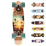 Holz Skateboard Kinder - Mini Cruiser Kickboard - Skateboard...