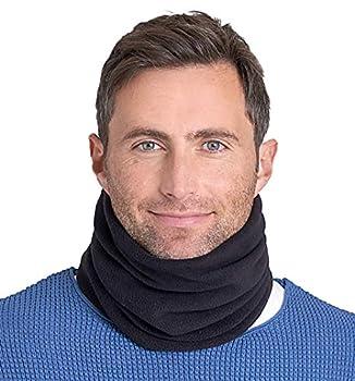Neck Warmer - Winter Fleece Neck Gaiter & Ski Tube Scarf for Men & Women - Cold Weather Face Cover Mask & Shield for Running Skiing Snowboarding - Ultimate Comfort Thermal Retention  Black