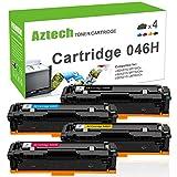 Aztech 4 Pack Compatibile per Canon 046H Cartridge 046H Cartridge 046HK 046HC 046HM 046HY per Canon i-SENSYS MF732Cdw MF734Cdw MF735Cx,i-SENSYS LBP653Cdw LBP654Cx