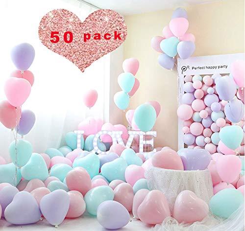 Sunshine smile Palloncini Macaron,Palloncini Pastello,Palloncini in Lattice,Multicolor per Bambini Compleanno per Feste Forniture Decorazioni per Matrimoni Accessori per Feste (50 Pezzi)