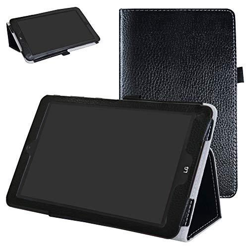 Mama Mouth PU Leder Folio 2-folding Ständer Cover mit Stylus Halterung für 20,3cm LG G Pad X II 8.0Plus T-Mobile V530Android 7.0Tablet schwarz schwarz