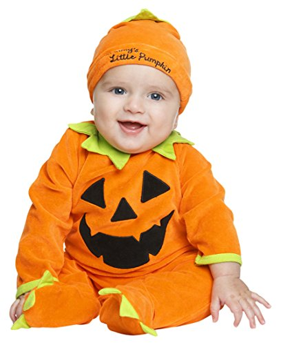 My Other Me Me-204964 Disfraz de calabaza bebé, color naranja, 7-12 meses (Viving Costumes 204964)