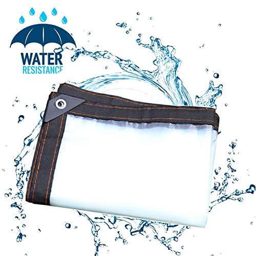 LXXTI Beschermhoes voor tuinbank van weerbestendig PE-weefsel, transparant, waterdicht dekzeil, 5 ml zachte film, 120 g/m², regendicht raambalkon