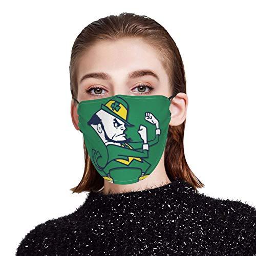 Kikc Bandana Face Mask Notre Dame Fighting Irish Dust Reusable Washable Cloth Protection Re Useable Fashion Fabric Breathable Rewashable Cycling Motorcycle Balaclava Scarf