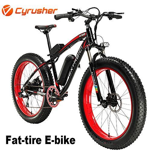 Cyrusher Extrbici XF660 48V 500 Watt Bicicletta Rosso Nero Bicicletta Moto Bicicletta Bicicletta 7 velocità Freni Disco Elettrico Biciclette