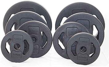 5 Gewichtspaaren 5, 10, 15, 20 und 25kg Gewicht, 50,4mm Aufnahme/öffnung Capital Sports Nipton Full Set Hantelscheiben Gewichtsscheiben Komplettset Krafttraining Gewichte Set