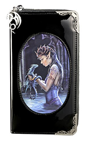 Fantasy Portemonnaie mit 3D Motiv | Water Dragon von Anne Stokes | Drache Elfe Geldbörse