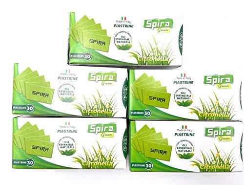 SPIRA GREEN 150-PIASTRINE CITRONELLA Oli Essenziali Naturali ATTENZIONE Utilizzare solamente con elettroemanatori