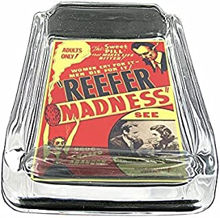 Glass Square Ashtray Vintage Poster D-019 Reefer Madness 1936