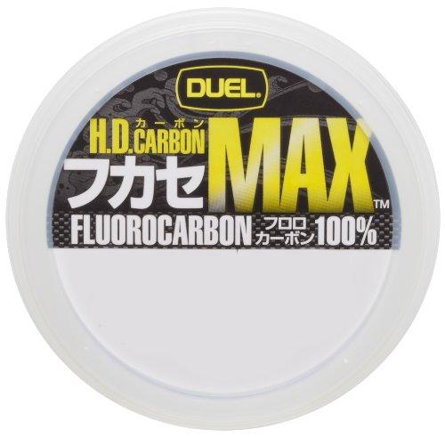 DUEL(デュエル) フロロライン 1.25号 H.D.CARBON フカセ MAX 50m 1.25号 ナチュラルクリアー 磯釣り フカセ...