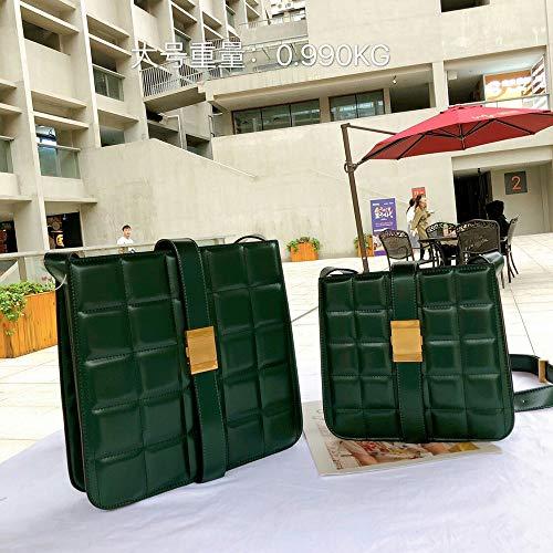 Faus Koco Leder-Handtaschen/Leder-Textur-Box, klein, quadratisch, Kuriertasche, Farbe: Grün, Größe: M