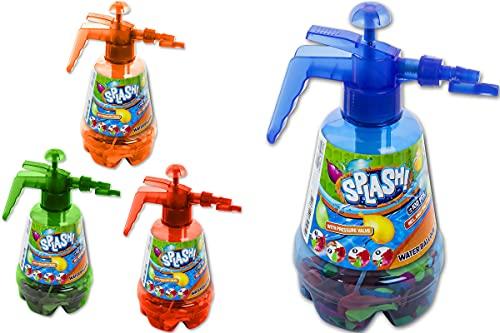 Trendario Juego de bombas de agua, incluye 100 globos, bomba de agua y globos en el juego de bombas de agua, ideal para cumpleaños infantiles, fiestas de verano, piscina, jardín