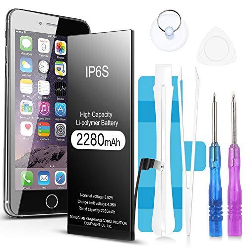 Jojobnj Akku für iPhone 6s, 2280mAh hoher Kapazität Batterie mit Reparaturset und Werkzeugset Akku-Austausch Anleitung | Funktioniert mit alle original APN