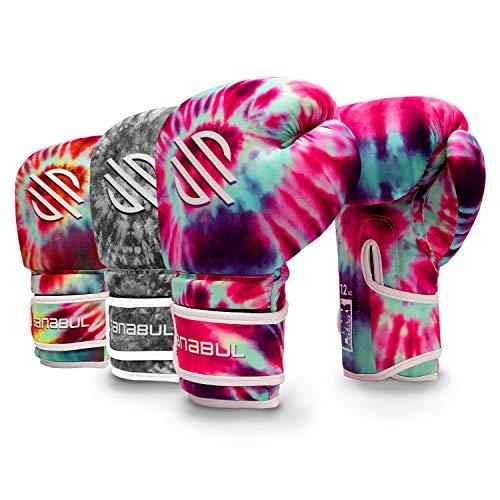 Sanabul Funk Strike Tie Dye Gel Boxing Kickboxing Training Gloves (Purple Swirl, 16 oz)