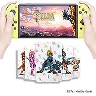 [Latest Version] 24Pcs The Legend of Zelda Breath of The Wild TLOZ NFC Game Cards, Link's Awakening ...