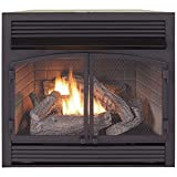 ProCom FBNSD400T-ZC Dual Fuel Ventless Gas Fireplace Insert, 29.5' H x 29.1' W x 15.6' D, Black