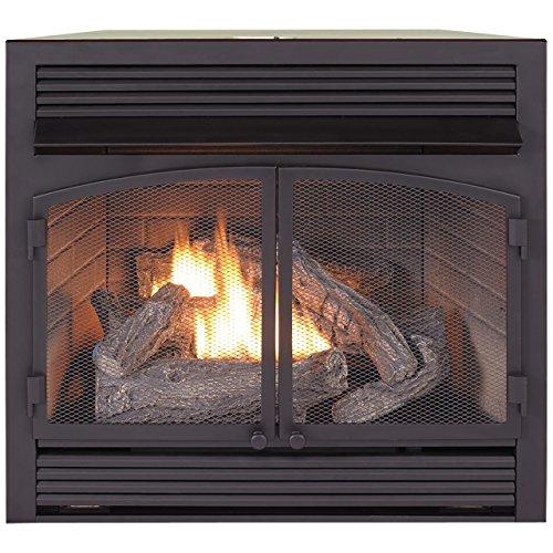"""ProCom FBNSD400T-ZC Dual Fuel Ventless Gas Fireplace Insert, 29.5"""" H x 29.1"""" W x 15.6"""" D, Black"""