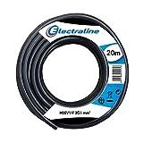 Electraline 11705, Cable para Extensiones H05VV-F, Sección 3G1 mm, 20 Mt, Negro