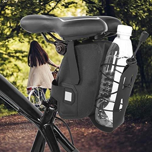 SALUTUYA Bolsa de sillín para Botella de Agua Bolsa de sillín para Botella de Agua Impermeable para Bicicleta Resistente al Agua, para Bicicletas Plegables