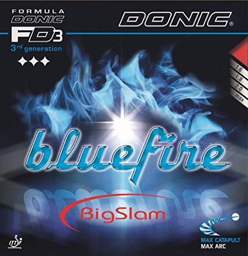 Tenis de mesa caucho Donic Bluefire Big Slam, 2.00mm), color rojo y negro