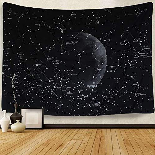 Space Star Map Tapestry Vast University The Milky Way Galaxy Constellation Sky Impreso Picture Cloth Home Wall Blanket Decor decoración del Dormitorio 150 * 200CM