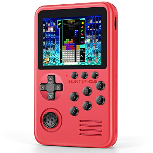 ASTARRY Handheld Game Console for Kid Adult, Retro Game Console with 1576 Video Games, Support Download, Save Game Progress and Connect TV, 1000mAh Rechargeable Battery, 3 Inch Screen Gaming Gift Red