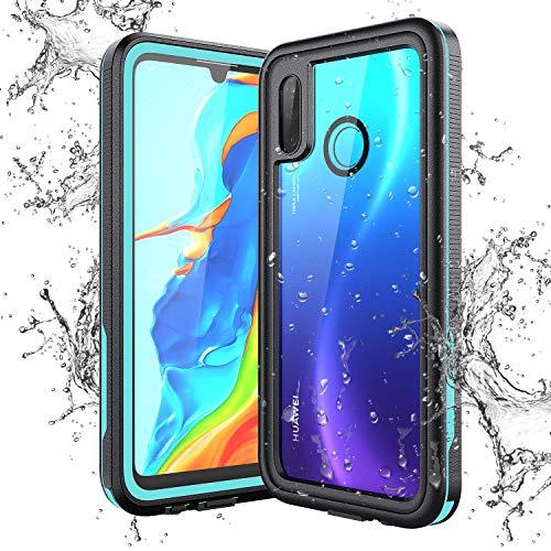 KOTPARX Funda Impermeable para Huawei P30 Lite, Carcasa IP68 Certificado Protección de 360 Grados con Protector de Pantalla Anti-Choque Anti-Arañazos Sumergible Resistente Al Agua Carcasa