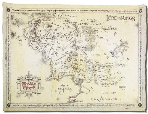 Herr der Ringe Poster Karte Von Mittelerde Pergame [Import]