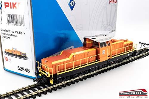 PIKO 52845 - H0 1:87 - Locomotiva diesel da manovra FS D 145 2016 dep. Catania DCC