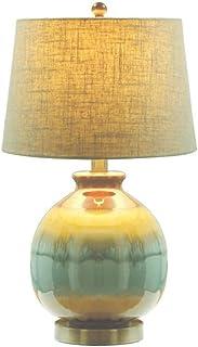 WYBFZTT-188 Moderne Tischlampe Keramik Gourd Stoffschirm for Wohnzimmer Familien Schlafzimmer Nachttischlampe