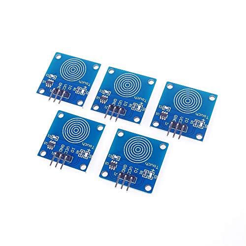 ANGEEK 5 Stk. TTP223B Digitaler Touch-Sensor kapazitives Touch Switch Modul für Arduino