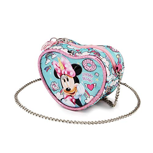 KARACTERMANIA Minni Mouse Unicorno-Borsa a Tracolla Cuore, Multicolore
