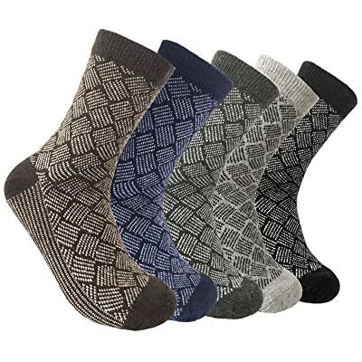 6 Pairs Merino Wool Blend Socks Winter Thick Thermal Socks Extra Heavy Duty