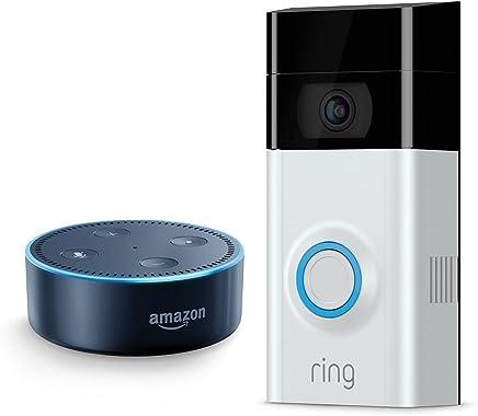 Ring Video Doorbell 2 + Echo Dot (2nd Generation) - Black